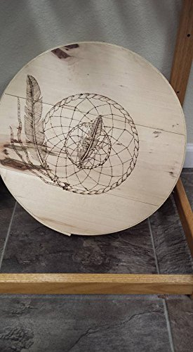 South Dakota Native American box burned carved DREAM CATCHER