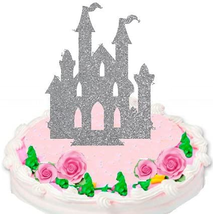 Silver Princess Castle Cake Decoration Topper  NEW