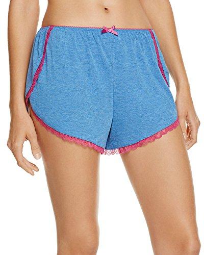 Honeydew Women's Lazy Sunday Lounge Shorts (Blue, Large)