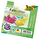 Global Art Materials Folia Origami Paper 4-Inch-by-4-Inch Assorted Colors 500 Sheet Bulk Pack (8960)