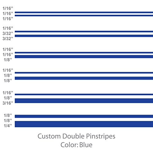 Double Pinstripe - 1060 Graphics Double Vinyl Pinstripes/Pinstriping (Blue) 1/16