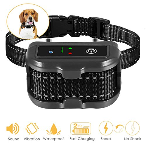 ELenest Bark Collar, 2019 Upgraded Smark Barking Control Device, Adjustable Vibration, Shock Sensitivity Level, Rechargeable Waterproof, Barking Detection for Small Large Dog, No Bark Collar by ELenest (Image #7)