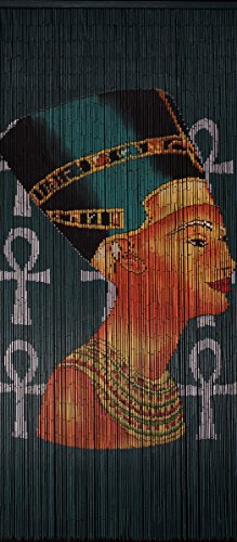 Hand Painted Bamboo Curtains (Bamboo Beaded Curtain Hand Painted-Nefertiti)
