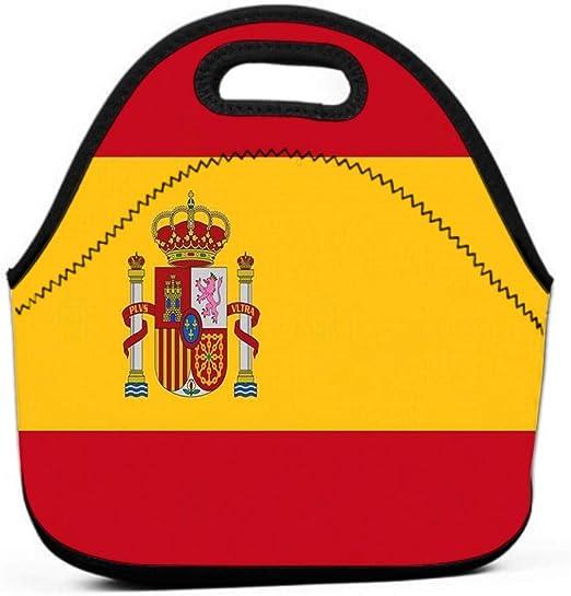Bolsa de almuerzo Bolsa de almuerzo con aislamiento Perfecto para el trabajo Picnic Bandera oficial España Africano oscuro: Amazon.es: Hogar
