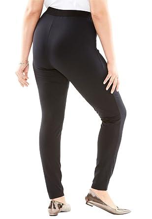dfc152f6910 Roamans Women s Plus Size Fleece-Lined Leggings at Amazon Women s Clothing  store