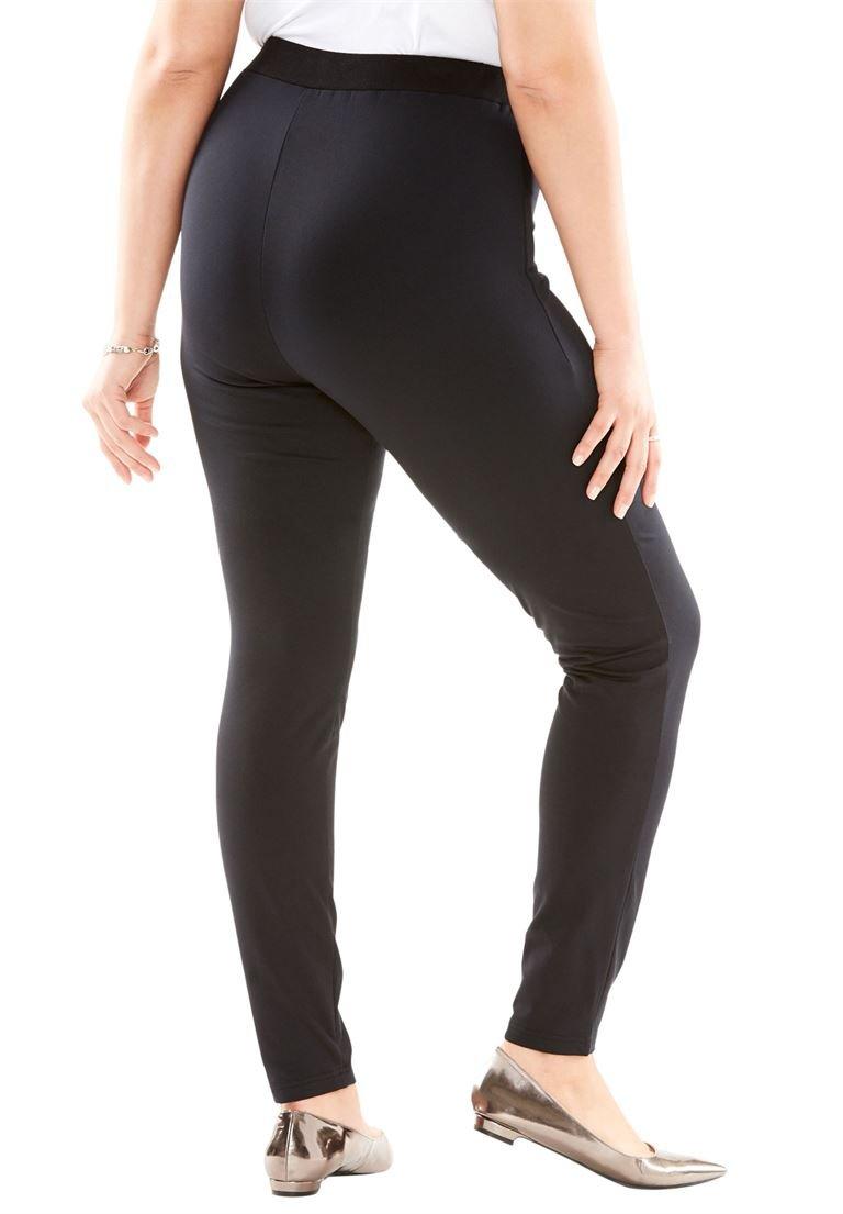 Roamans Women's Plus Size Fleece-Lined Leggings