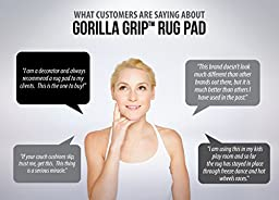 Gorilla Grip 8x11-Feet Non-Slip Area Rug Pad for Hard Floors