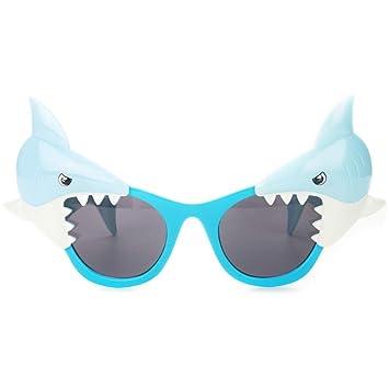 MLIAN Gafas de Sol Tiburón Azul Gafas Divertidas Fiesta ...