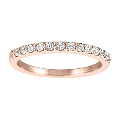 6cf4f636e6e89 Amazon.com: 1/2 Carat Diamond Wedding Band In 10k Rose Gold: Jewelry