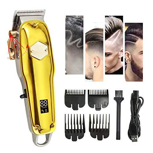 SLE Tondeuse Professionnelle Cheveux Hommes, Longueur Réglable de Coupe de Cheveux avec 4 Peignes de Limite et Levier de Cône, Longueur des la Gamme de 0.45 - 9 mm