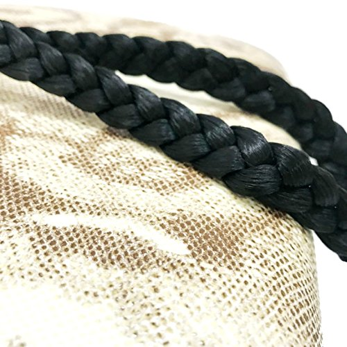MeeTHan Fashion Plaited Hair Braid Headband : H23 (EL Black 1.5 CM.)