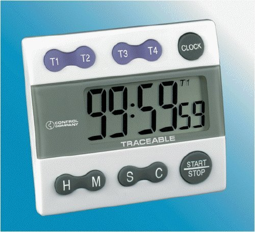 Control Company 5004 Traceable Four Channel Alarm Timer by Control