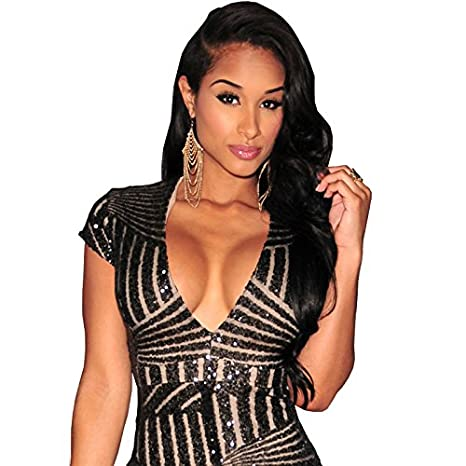 Vestidos Ropa De Moda 2017 Para Mujer De Fiesta y Noche Elegante (L, Black) VE0012 at Amazon Womens Clothing store: