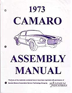 fully illustrated 1973 chevrolet camaro factory assembly instruction manual  includes: standard camaro, coupe,