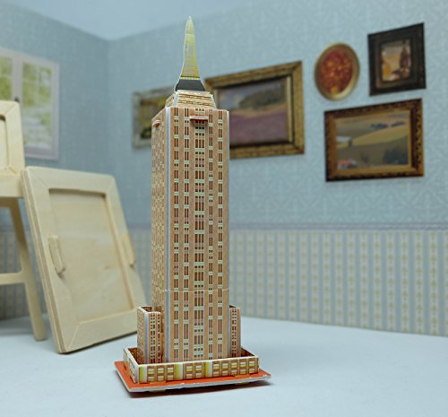 State Helmet Charm (Mini 3D Puzzles Architecture 'Empire State Building' Easy for Baby 3 Years and more Mini Size 2.1