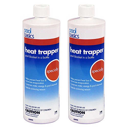 - Pool Basics 2706PB-02 Heat Trapper Pool Solar Blanket In A Bottle Liquid Solar Cover, 1-Quart, 2-Pack