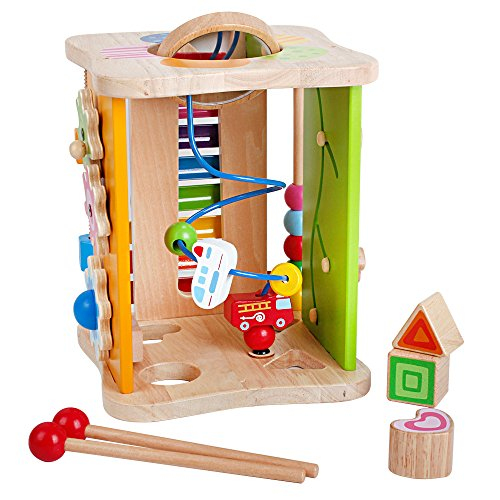 Life&Fun Kids Initiation Musical Toy Wooden 3 in 1 Multifunctional Music Toys Pound & Tap Xylophone Color&Tones Colorful Keys with Mallets by Life&Fun (Image #2)