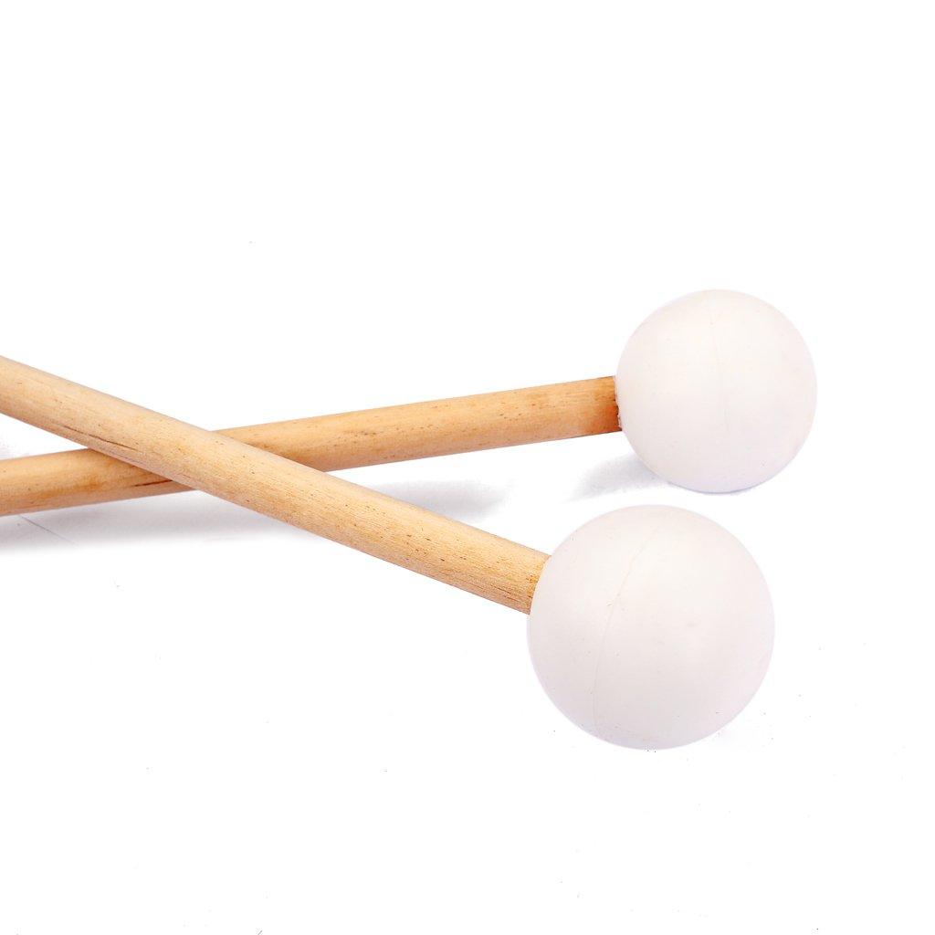 Par Glockenspiel Xylophone Bell Sticks Mallets Mango De Madera Para Un Sonido Brillante