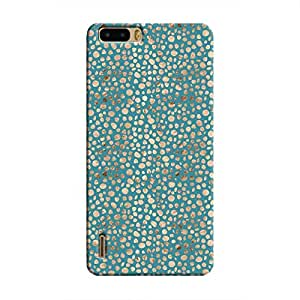 Cover It Up - Brown Blue Pebbles Mosaic Honor 6 Plus Hard Case