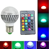MEXUD-E27 15W 85-265V LED RGB Magic Lamp Light Bulb Color Changing Spotlight with Remote Control