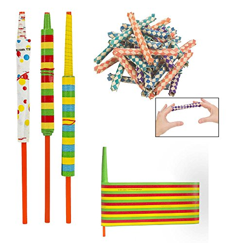 Trap Chinese Finger (Fun Express Chinese Finger Traps & Paper YoYos 84 Piece Bundle)