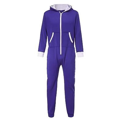 zarupeng Pijama hombre mono, mono de trabajo para hombre camisetas manga larga invierno dobla camisetas termicas originales Pantalones largos con cremallera ...