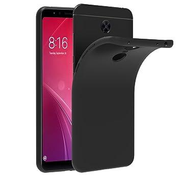 iVoler Funda Carcasa Gel Negro para Xiaomi Redmi 5 Plus, Ultra Fina 0,33mm, Silicona TPU de Alta Resistencia y Flexibilidad