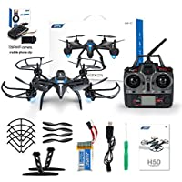 JJRC H50WH 2.4GHz 4-axis Gyro Altitude Hold Headless Mode 360 Degree Roll RC Quadcopter RTF with 720P Wifi HD Camera