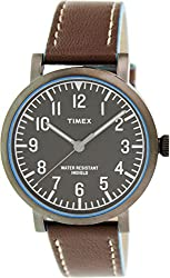 Timex Women's Originals T2P506 Brown Leather Quartz Watch
