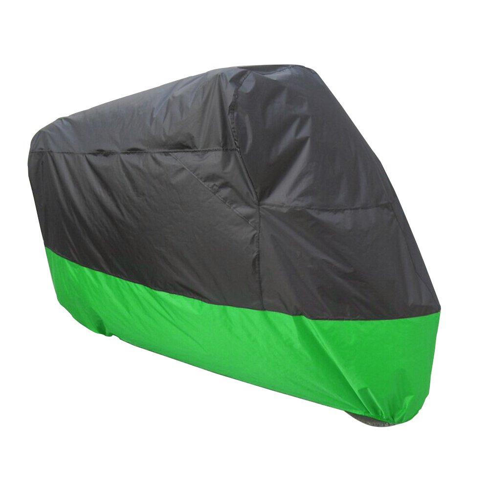 Un Xin all Season Nero e Verde 180D Impermeabile Moto Sun Cover, for all Most Model Fadeproof Lavabile UV Pioggia Polvere all' Aperto Borsa per sellino (XXL: 264,2  x 104,1  x 124,5  cm) 2 x 104 1 x 124 5 cm) An Xin