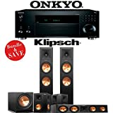 Klipsch RP-280F 5.1-Ch Reference Premiere Home Theater Speaker System with Onkyo TX-RZ820 7.2-Ch Network AV Receiver