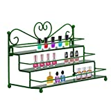Dazone Mounted 3 Tier Step Metal Nail Polish Wall Rack Stand Essential Oils Perfume Organizer Shelf Holder
