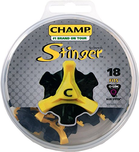 Shoes Stinger (Champ Scorpion Stinger Q-Lok Spikes (18 ct. Disk) - Yellow/Black)