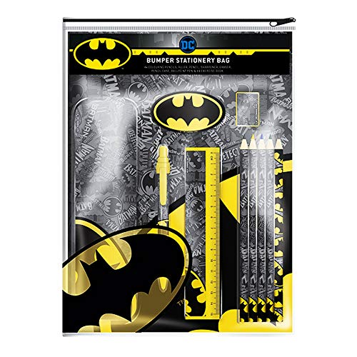 Batman Logo Bumper Stationery Set (One Size) (Multicolored)