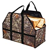 SUNRIS Firewood Tote Bag Wood Log Carrier Large Capacity Strong Durable Firewood Bag Fireplaces Wood Stoves