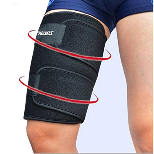 Kagogo Thigh Compression Sleeves (1 sleeve) Men, Women & Youth Hamstring Pain/ Quad Support & Recovery - Reduce Groin Strains & Cramps - Snug & Warm For Tennis, Soccer, Basketball - Groin Pad Female