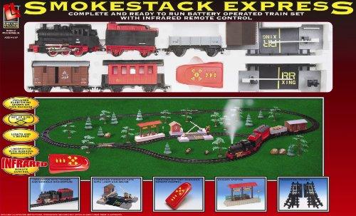 Life-Like  Trains Battery Operated Smoke Stack Express Train Set by Life Like