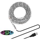 Led Light Strips Sunsbell USB Powered LED Rope Lights Waterproof Flexible SMD 5050 LED Strip Lights (200cm/6.56 ft, RGB)
