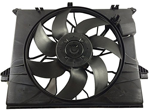 TOPAZ 1645000593 Auxiliary Brushless Cooling Fan Assembly for Mercedes W164 W251 ML350 ML450 ML500 R350 R320 R500 - Mercedes Benz Auxiliary Fan