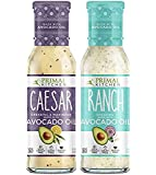 Primal Kitchen - Caesar and Ranch 2-Pack, Avocado Oil-Based Dressing, Whole30 and Paleo Approved (8 oz each)