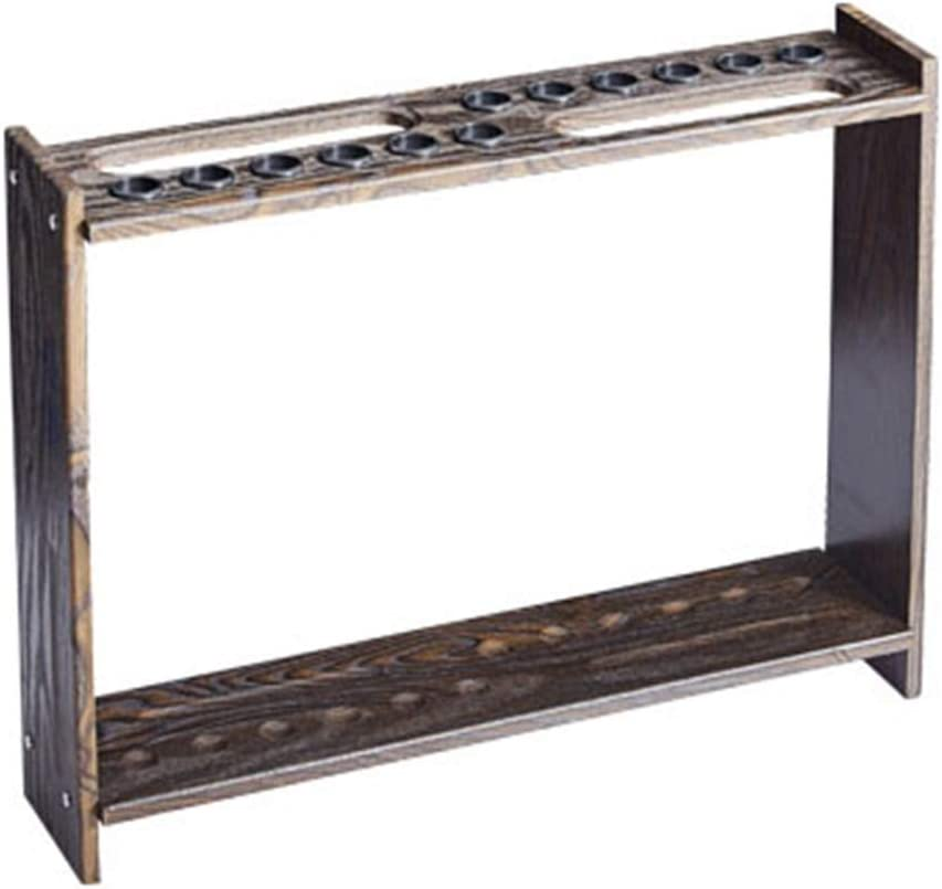 LCRACK プールの手掛りの棚、ビリヤードは屋外の使用のために高品質手掛りの棚の縦の棒のキャビネットを供給します (Color : 黒 wood grain-73CM×17CM×57CM) 黒 wood grain-73CM×17CM×57CM