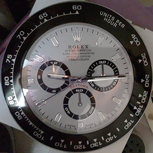 replica Rolex 35 mm de pared daytona Metal movimiento silencioso.: Amazon.es: Hogar