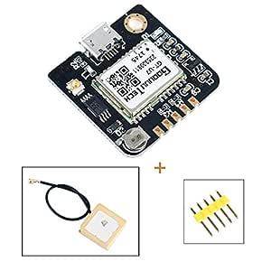 MakerHawk Módulo GPS Drone Microcontrolador Compatible para NEO-6M ...