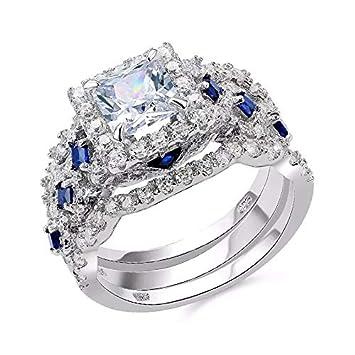 Amazon.com: Nattaphol Newshe Juego de anillos de boda ...