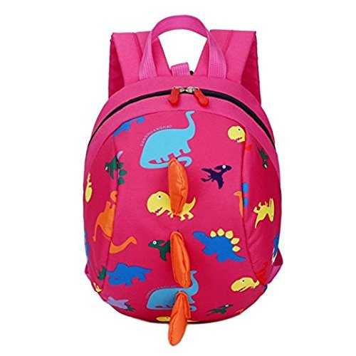 Toddler Safety Harness Backpack Kids Walker Daypack Cartoon Dinosaur Rucksack Baby Prevent Lost Walking Shoulder Bag Preschool School Bag for Boys Girls Zoo Park Kindergarten Nursery Travel Bag by JIAHG (Image #1)