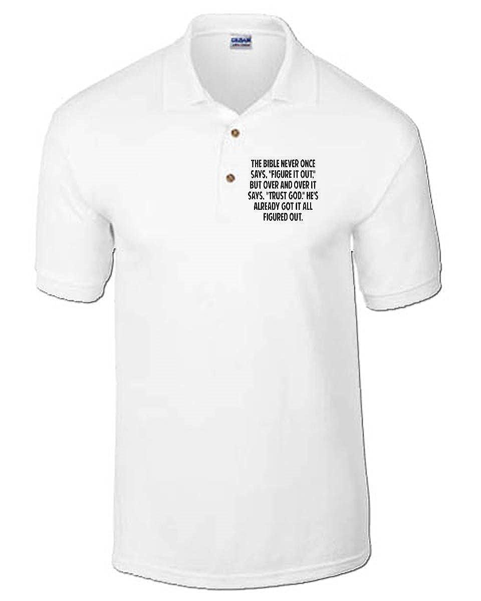 T-Shirtshock - Polo CIT0244 Trust in God, Talla small: Amazon.es ...