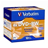Verbatim Branded 4X DVD+RW Media 20 Pack in Jewel