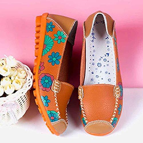 De Sport Femmes Chaussures Orange Sauvages Familizo Plates Pour SwE5Ixggq