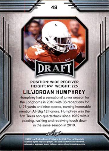 bbf4b1a96fc5c Amazon.com: 2019 Leaf Draft Gold Football RC Rookie Card #49 Lil ...