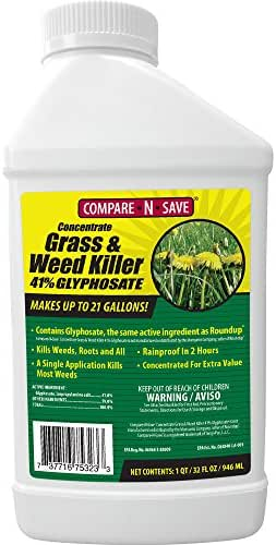 Compare-N-Save Concentrate Grass and Weed Killer, 41-Percent Glyphosate, 32-Ounce